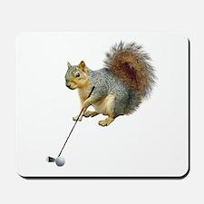Golfing Squirrel Mousepad