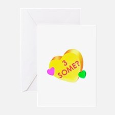 """""""Threesome"""" Greeting Cards (Pk of 10)"""
