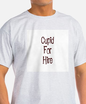 Cupid For Hire Ash Grey T-Shirt
