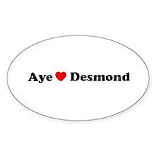 Aye Love Desmond Decal