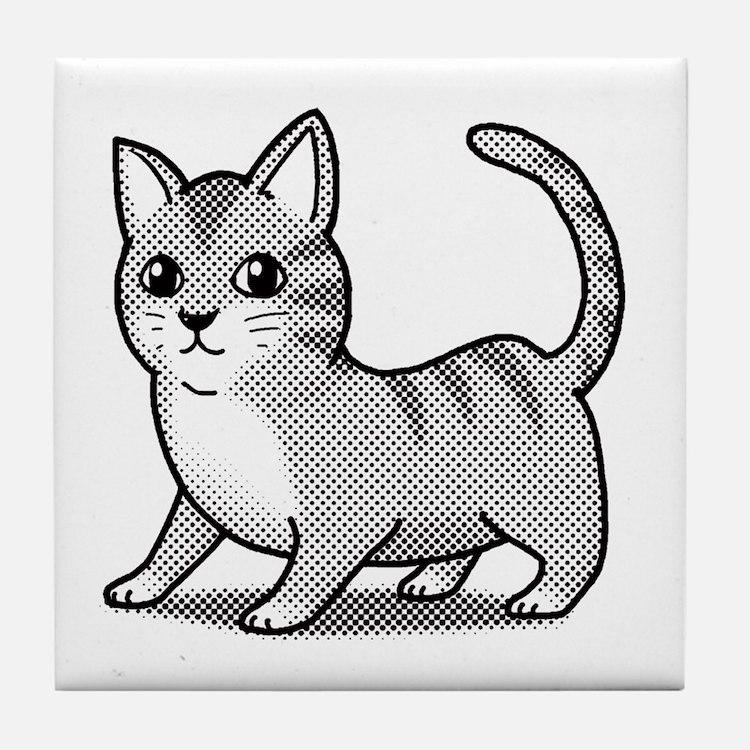 Cute Pet cats Tile Coaster