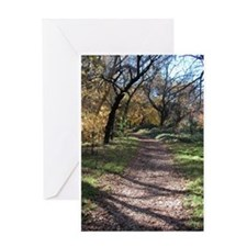 Fall Walk In The Park Greeting Card