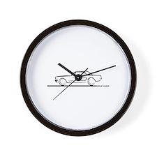 1964 65 66 Mustang Hard Top Wall Clock