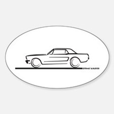 1964 65 66 Mustang Hard Top Sticker (Oval)