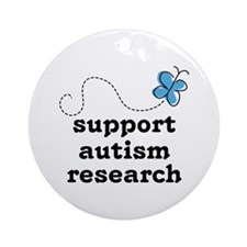Support Autism Research Ornament (Round)