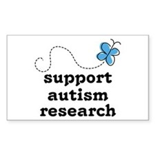 Support Autism Research Rectangle Decal