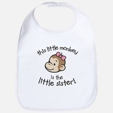 Little Sister - Monkey Bib