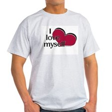 I Love Myself Ash Grey T-Shirt