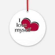I Love Myself Ornament (Round)