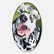Smiling Dalmatian Dog Decal