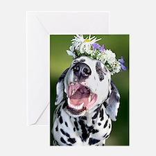 Smiling Dalmatian Dog Greeting Card