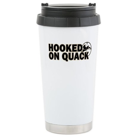 Hooked on Quack Stainless Steel Travel Mug