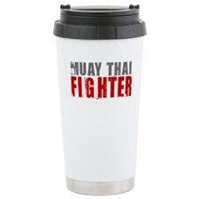 Muay Thai Fighter Travel Coffee Mug