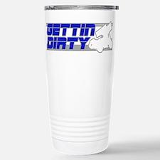Gettin Dirty Blue/Grey Travel Mug