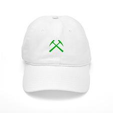 Crossed Rock Hammers (green) Baseball Cap