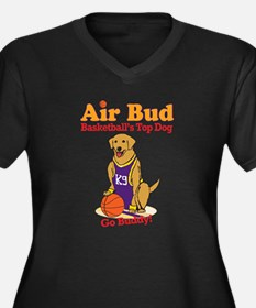 Air Bud Basketball Women's Plus Size V-Neck Dark T