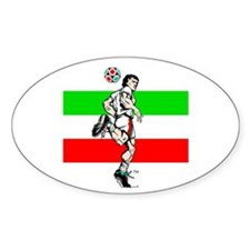 Soccer Tribble Oval Decal