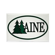 Maine Pine Trees II Rectangle Magnet