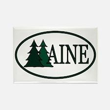 Maine Pine Trees II Rectangle Magnet