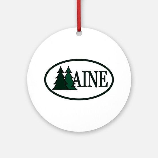 Maine Pine Trees II Ornament (Round)