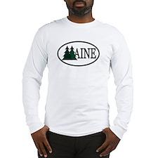 Maine Pine Trees II Long Sleeve T-Shirt