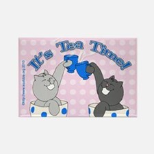 Teacup Lolcats Rectangle Magnet