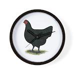 Jersey Giant: Black Hen Wall Clock