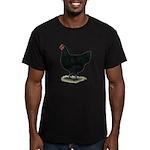 Jersey Giant: Black Hen Men's Fitted T-Shirt (dark