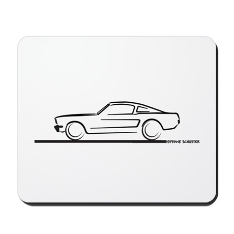 1964 65 66 Mustang Fastback Mousepad