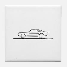 1964 65 66 Mustang Fastback Tile Coaster