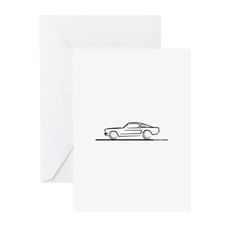 1964 65 66 Mustang Fastback Greeting Cards (Pk of