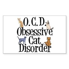 Obsessive Cat Disorder Decal
