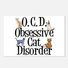 Obsessive Cat Disorder Postcards (Package of 8)