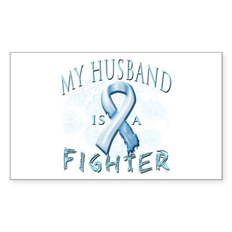 My Husband Is A Fighter Sticker (Rectangle)