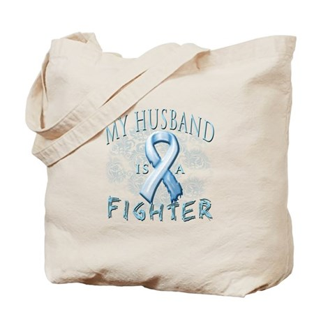 My Husband Is A Fighter Tote Bag