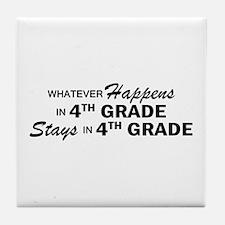Whatever Happens -4th Grade Tile Coaster