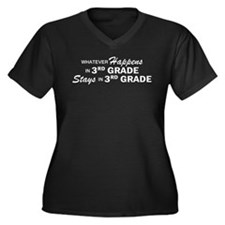 Whatever Happens - 3rd Grade Women's Plus Size V-N