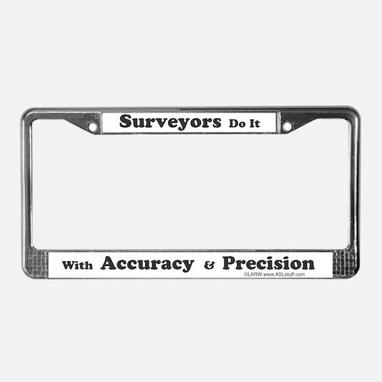 SurveyorsDoIt License Plate Frame