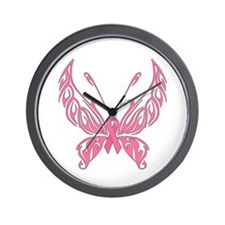 Fanciful Butterfly Wall Clock