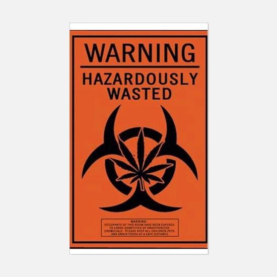 Hazardously Wasted Rectangle Decal