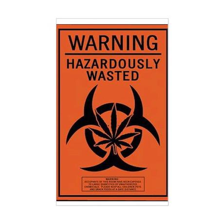 Hazardously Wasted Rectangle Sticker