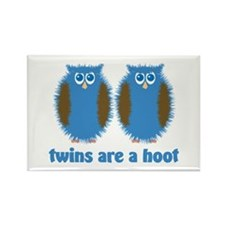 Boy Twin Owls Rectangle Magnet