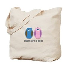 Twin Boy and Girl Owls Tote Bag