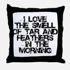 Tar and Feathers in the Morning Throw Pillow