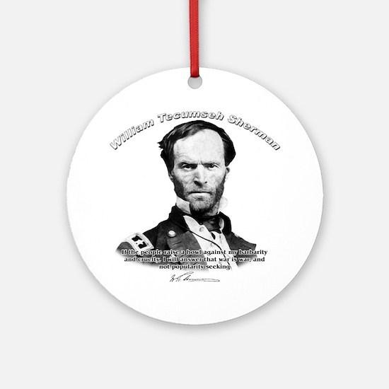 William Sherman 02 Ornament (Round)
