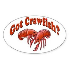 Got Crawfish Oval Decal