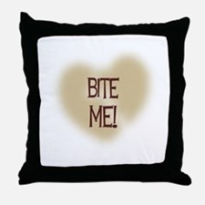 Bite Me! Throw Pillow