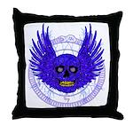 BLUE SKULL 13 Throw Pillow
