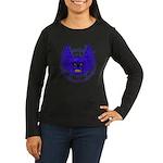 BLUE SKULL 13 Women's Long Sleeve Dark T-Shirt