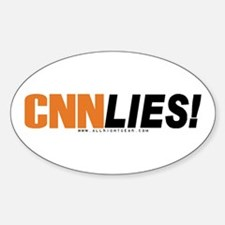 CNN Lies Oval Decal